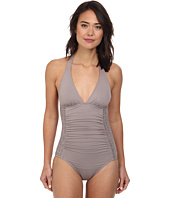 DKNY - Draped Halter Maillot One-Piece
