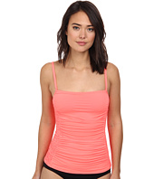 DKNY - Draped Smocked Tankini Top