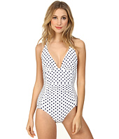 DKNY - Lets Hear It For The Dots Halter Maillot One-Piece