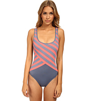 DKNY - Essential Perks Spliced Scoop Back Maillot One-Piece