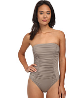 DKNY - Shirred Classic Bandeau Maillot One-Piece