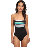 DKNY - Slip Stripes Bandeau Maillot One-Piece