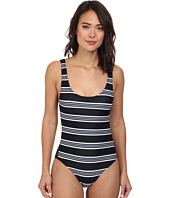 DKNY - Stripeology Mesh Side Panel Maillot One-Piece