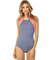 DKNY - Zipper Down High Neck Maillot One-Piece
