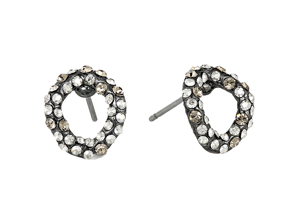 Alexis Bittar Chain Link Stud Ruthenium/Gold Earring