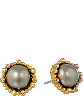 Alexis Bittar - Crystal Studded Post w/ Shell Pearl Cabochon