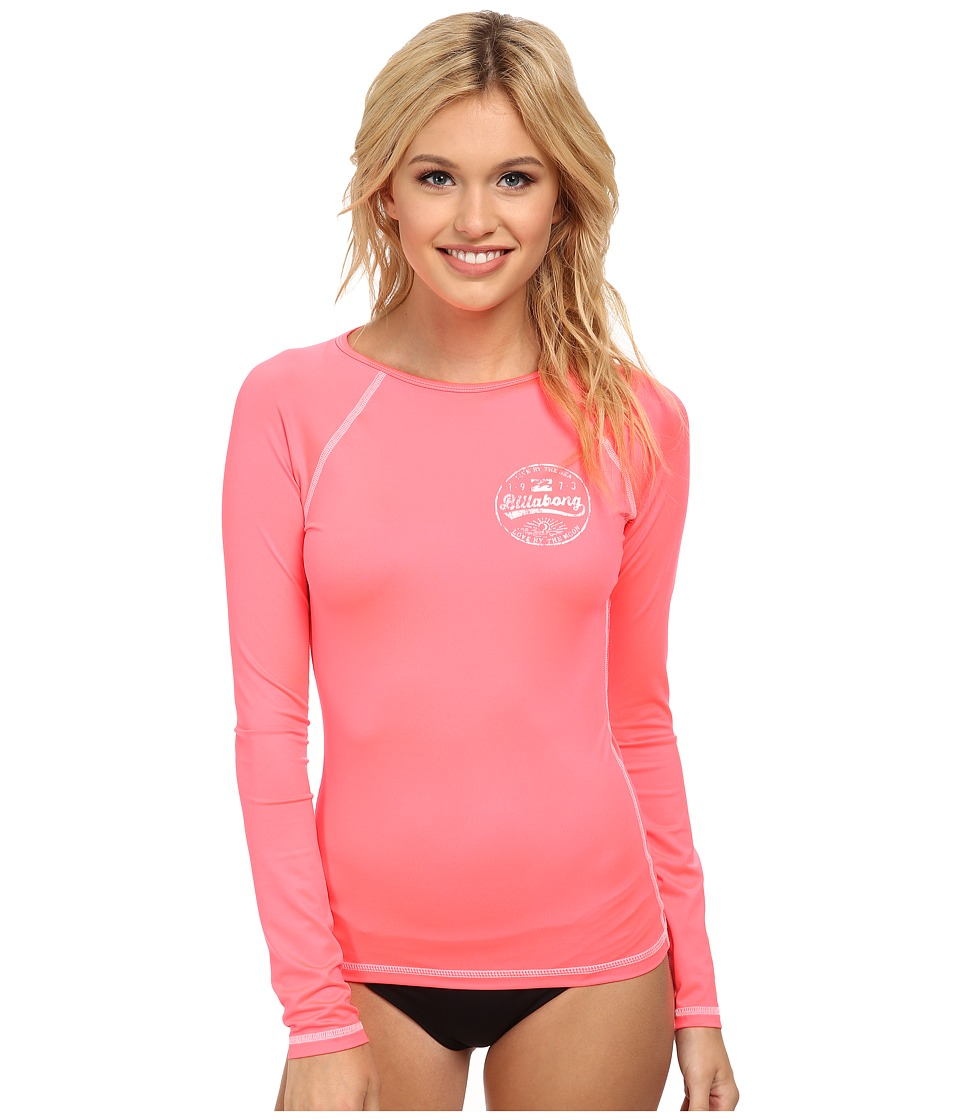 Billabong - Bare Lady L/S Rashguard (Coral Reef) Women's Swimwear
