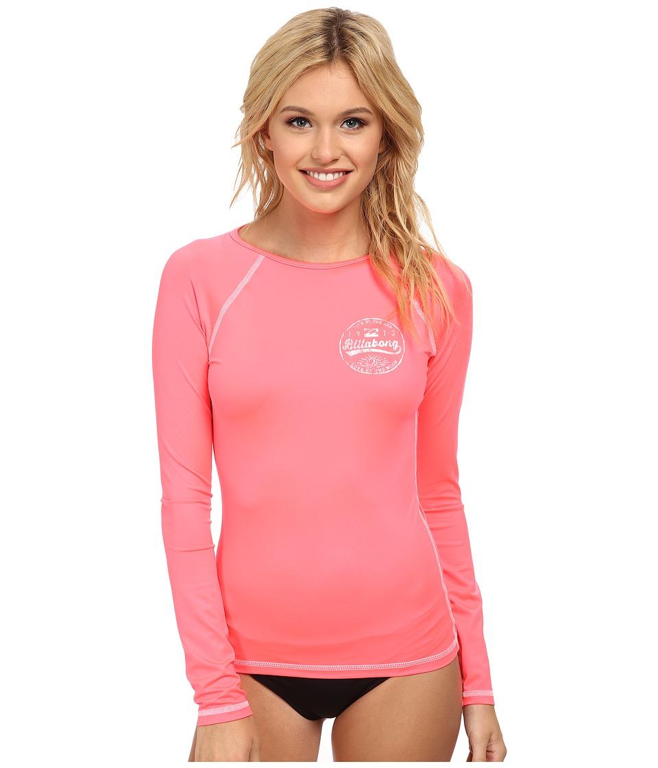 Billabong - Bare Lady L/S Rashguard (Coral Reef) Women's Swimwear