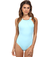 Vince Camuto - Crescent Resort High Neck Maillot w/ Removable Soft Cups