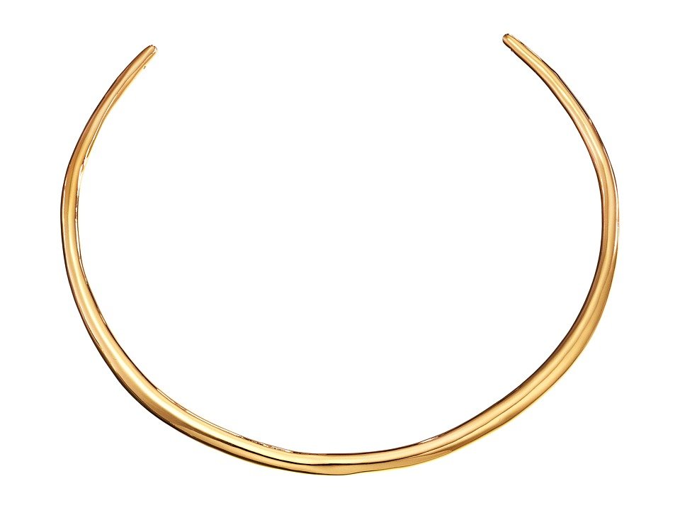 Alexis Bittar - Thin Metal Collar (10K Gold) Necklace
