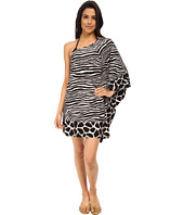 MICHAEL Michael Kors - Zebra Chevron One Shoulder Cover-up