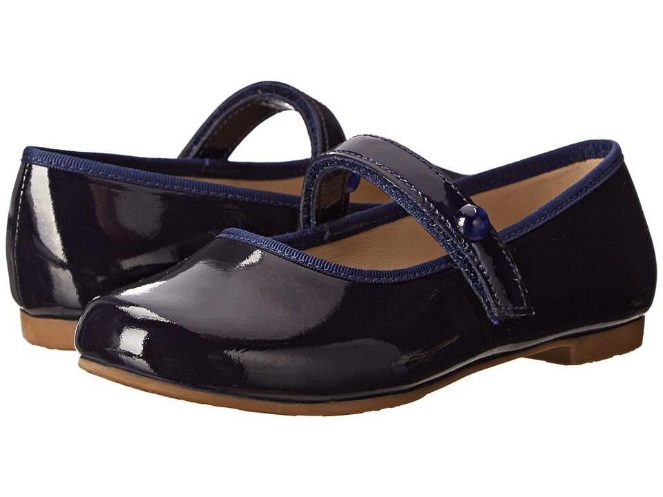 Elephantito Princess Flat Toddler/Little Kid/Big Kid Patent Navy Girls Shoes