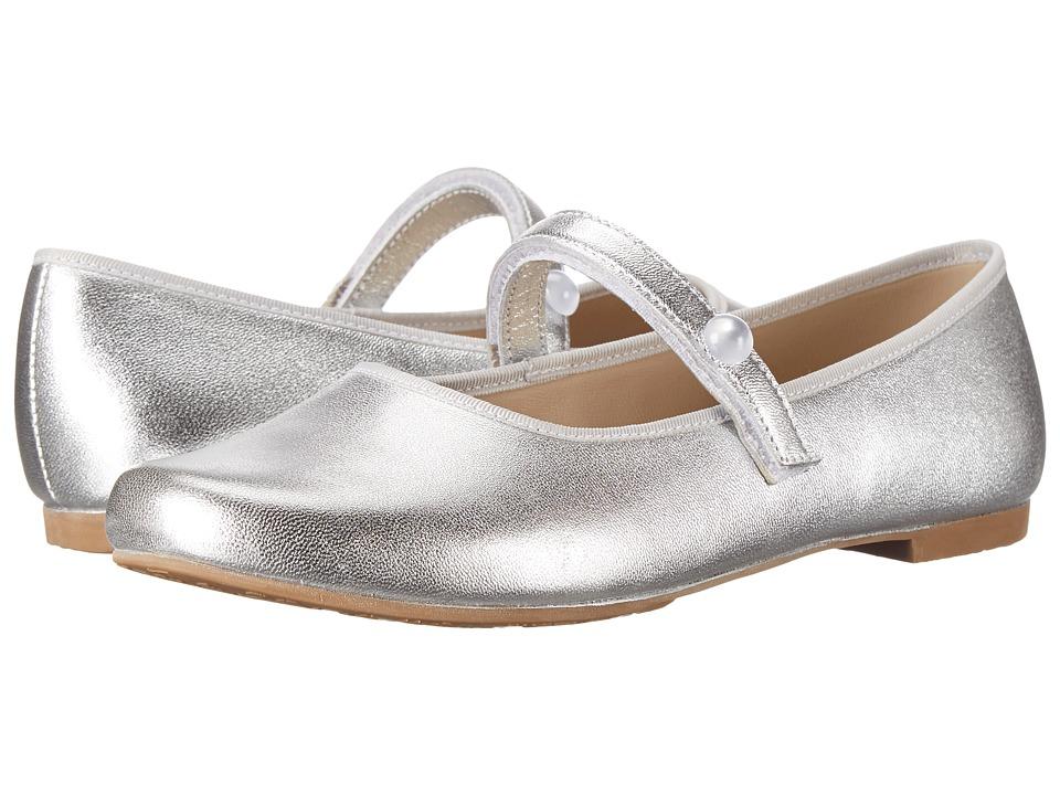 Elephantito Princess Flat Toddler/Little Kid/Big Kid Silver Girls Shoes