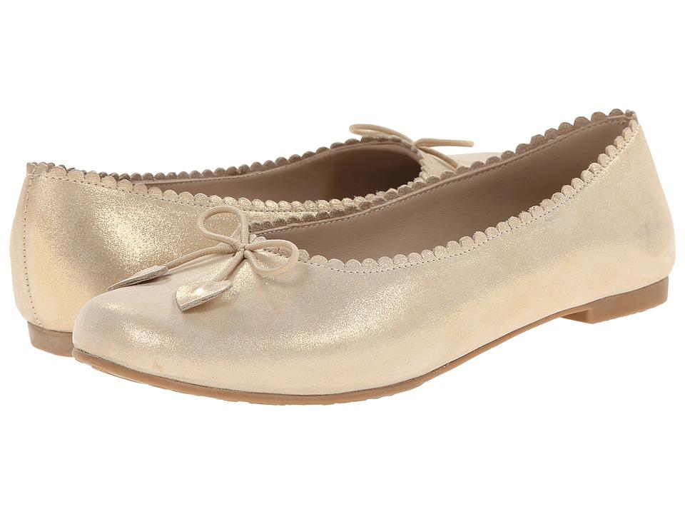 Elephantito Scalloped Ballerina Toddler/Little Kid/Big Kid Gold Girls Shoes