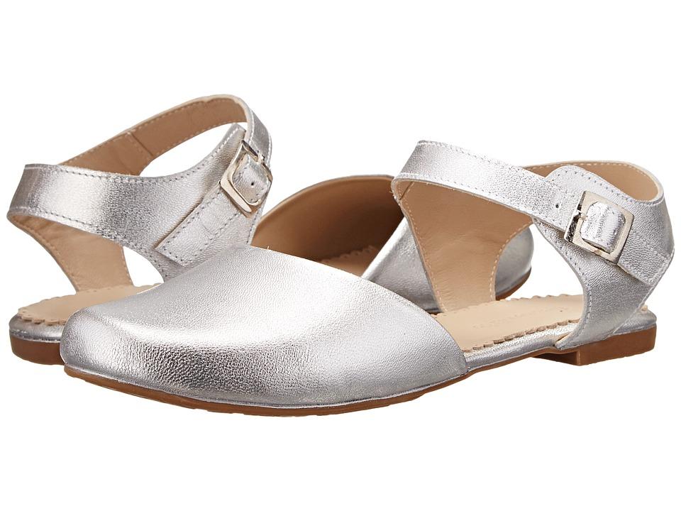 Elephantito Elisa Flat Toddler/Little Kid/Big Kid Silver Girls Shoes