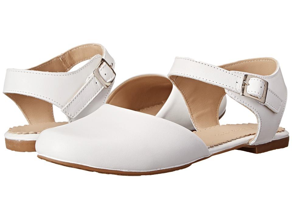 Elephantito Elisa Flat Toddler/Little Kid/Big Kid White Girls Shoes