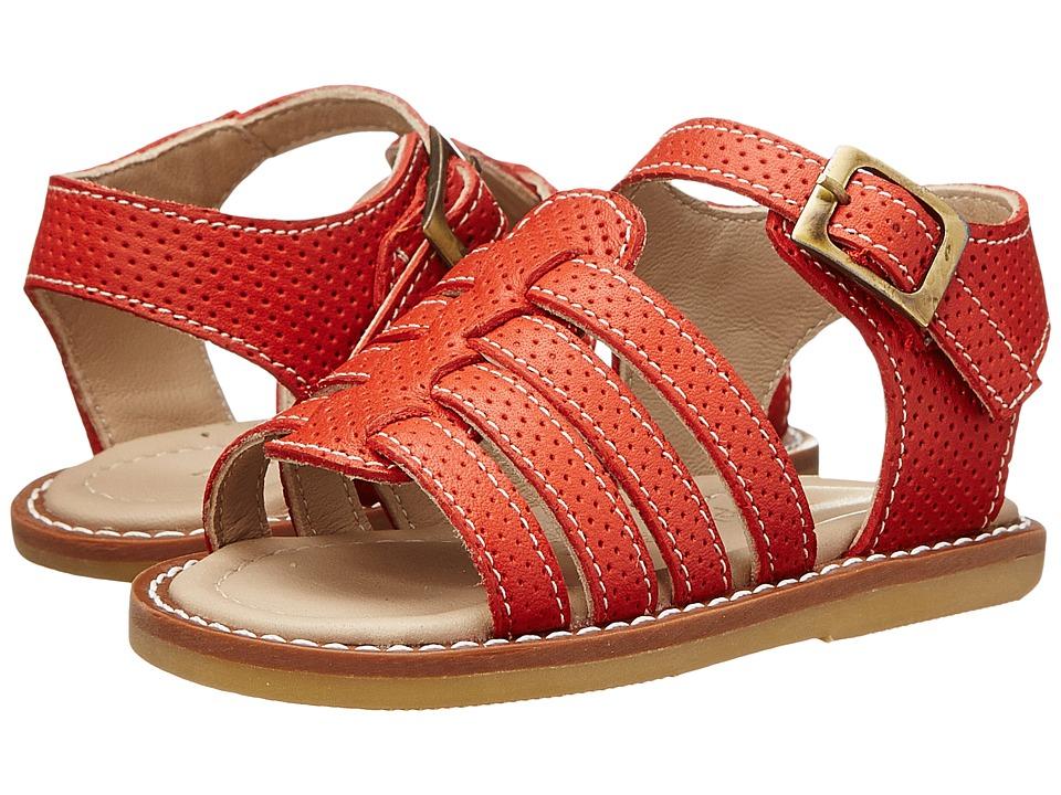Elephantito Nantucket Sandal Toddler Ferrari Red Girls Shoes