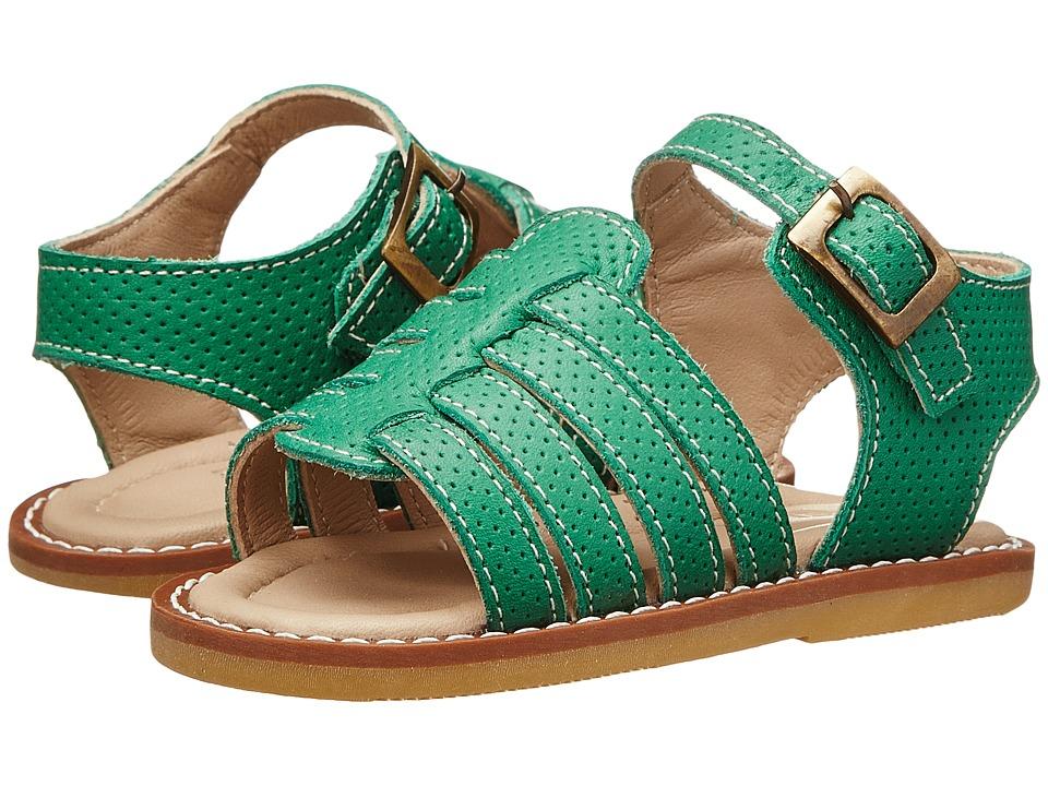 Elephantito Nantucket Sandal Toddler Kelly Green Girls Shoes