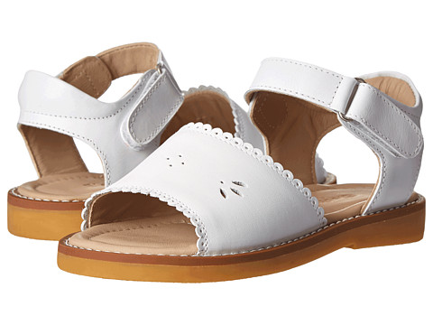 Elephantito Classic Sandal w/ Scallop (Toddler/Little Kid) - White