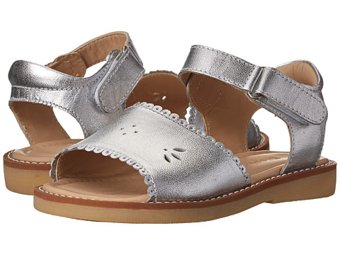 Elephantito Classic Sandal w/ Scallop (Toddler/Little Kid) - Silver
