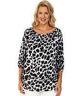 MICHAEL Michael Kors - Plus Size Water Ikat Draped Cover-Up