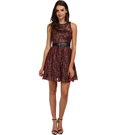 Adrianna Papell - Halter Foiled Lace Dress