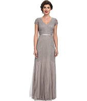 Adrianna Papell - Beaded Cap Sleeve Gown