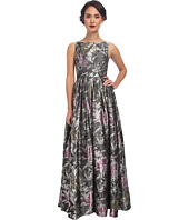 Adrianna Papell - Sleeveless Jacquard Gown