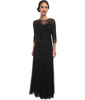 Adrianna Papell - Long Sleeve Beaded Gown