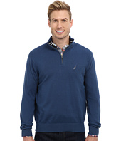 Nautica - 12GG Solid 1/4 Zip Jersey Sweater
