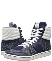 Just Cavalli - Reptile Printed and Soft Leather Hi-Top