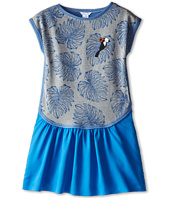 Little Marc Jacobs - Printed Fleece Dress with Woven Bottom (Big Kid)