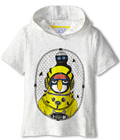 Little Marc Jacobs - S/S Hooded Tee with Seagull Character (Little Kid/Big Kid)