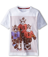 Little Marc Jacobs - S/S Tee with University Graphics (Big Kid)