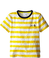 Little Marc Jacobs - S/S Striped Ringer with Fishbone (Little Kid/Big Kid)