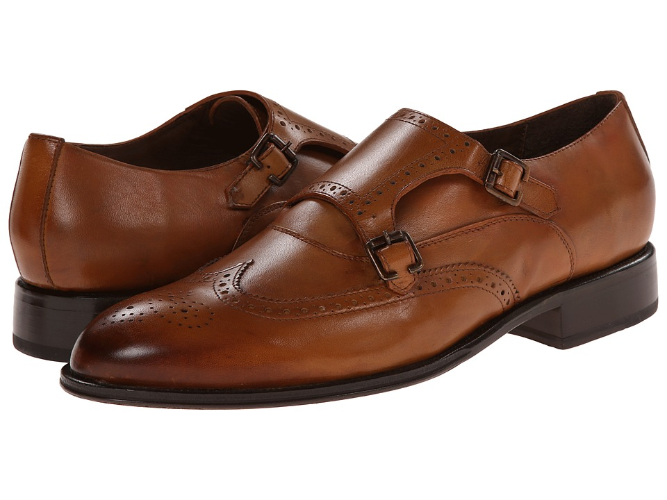 Messico Alonso Tan Burnished Leather Mens Flat Shoes