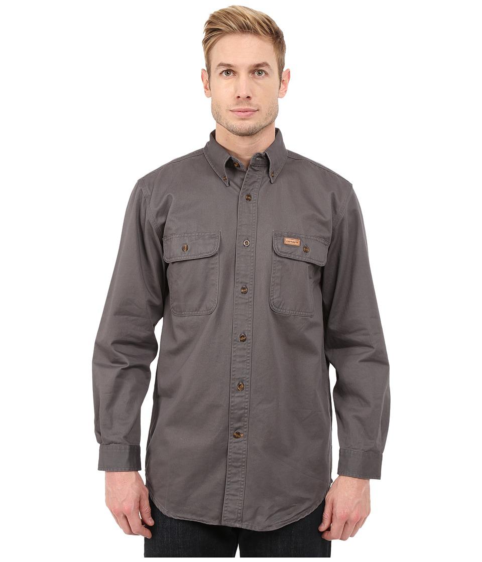 Carhartt - Sandstone Oakman Work Shirt (Gravel) Mens Short Sleeve Button Up