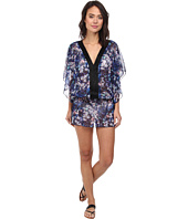 Badgley Mischka - Floriana Beaded Tunic Cover-Up