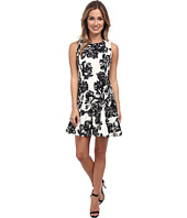 Rebecca Taylor - Sleeveless Splashy Flower Flippy Dress