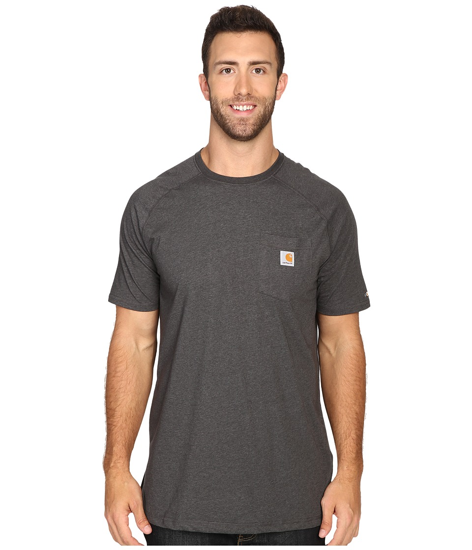 Carhartt Big Tall Force Cotton S/S T-Shirt (Carbon Heathe...