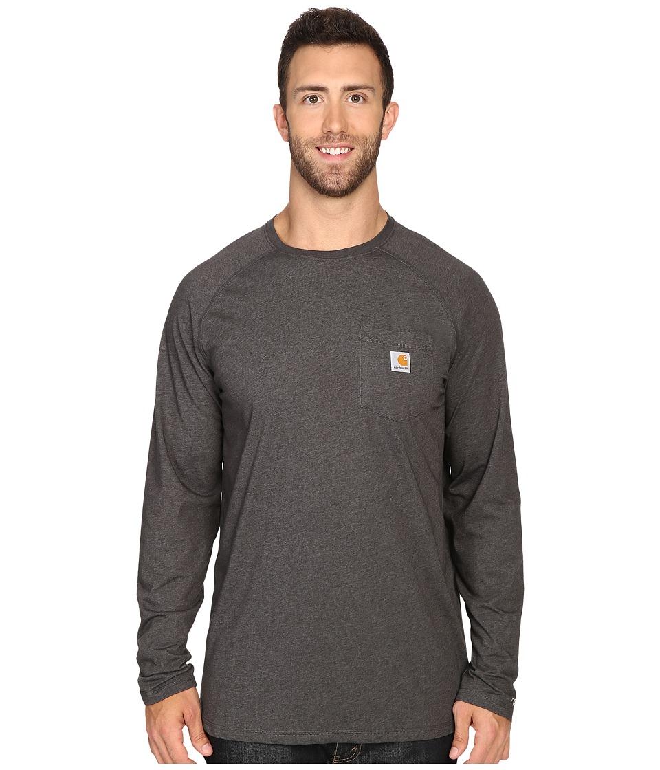 Carhartt - Big Tall Force Cotton L/S Tee (Carbon Heather) Mens T Shirt