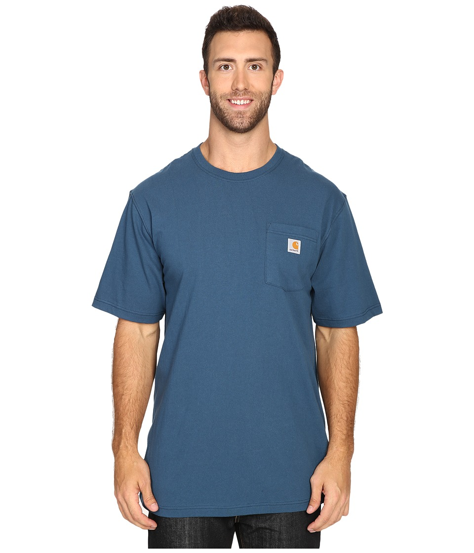 Carhartt Big Tall Workwear Pocket S/S Tee (Stream Blue) M...