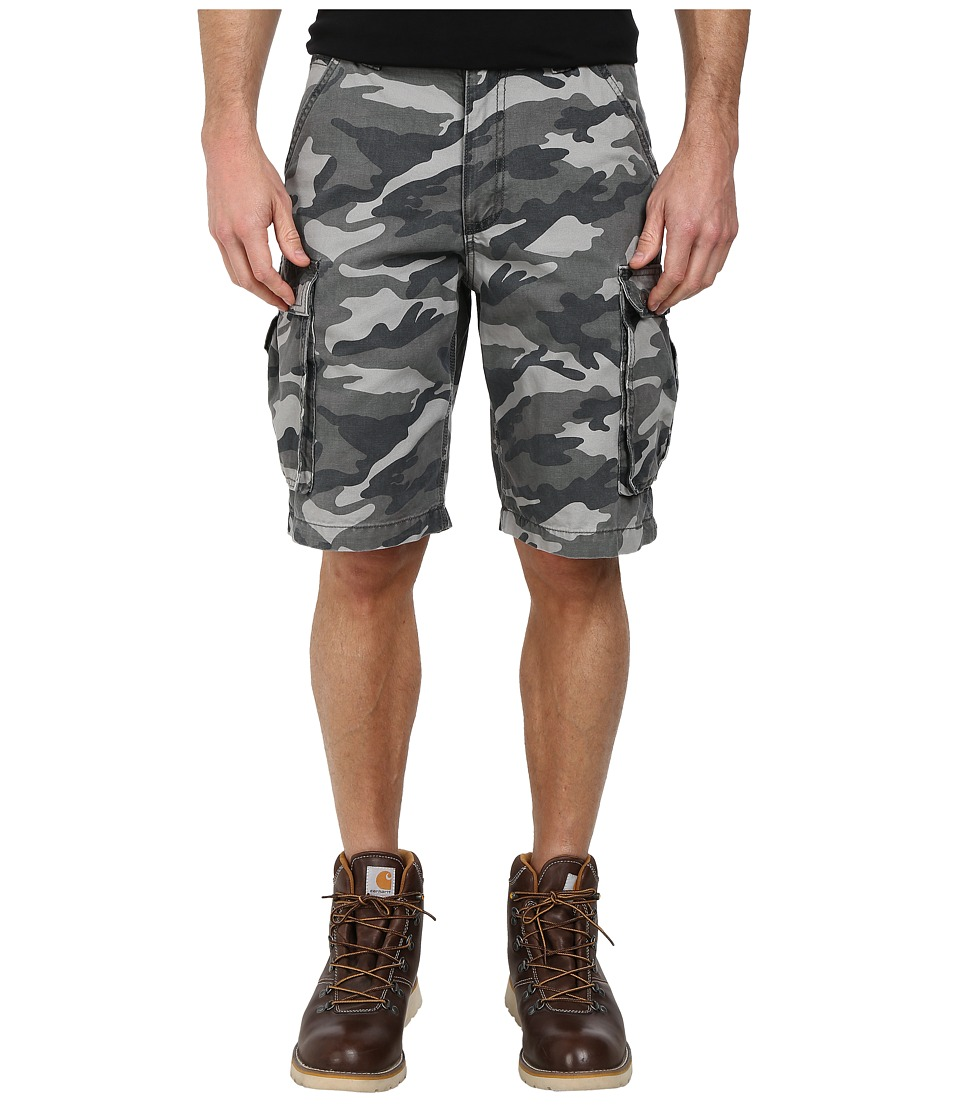 Carhartt - Rugged Cargo Camo Short (Rugged Gray Camo) Mens Shorts