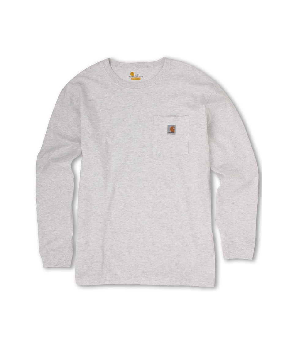 Carhartt Workwear Pocket L/S Tee (Ash) Men's Long Sleeve ...