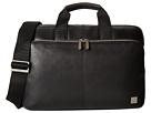 KNOMO London Newbury Leather Laptop Briefcase (Black)