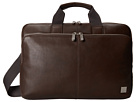 KNOMO London Newbury Leather Laptop Briefcase (Brown)