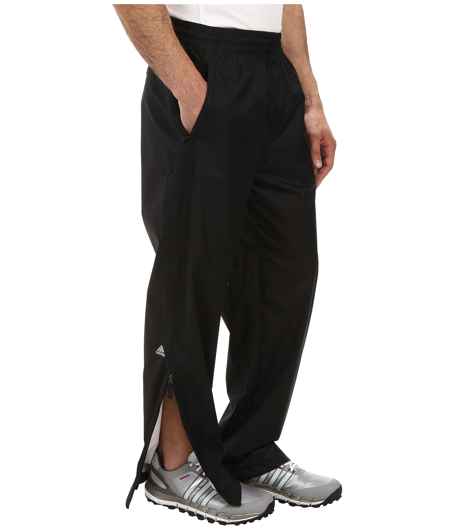 Adidas golf climastorm essential packable rain pant black for Adidas golf rain shirt