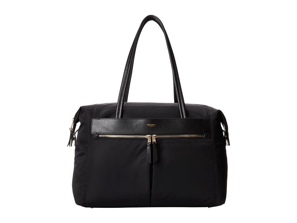 KNOMO London - Curzon Laptop Shoulder Tote (Black) Tote Handbags
