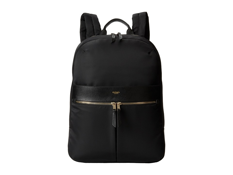 KNOMO London - Beauchamp Laptop Backpack (Black) Backpack Bags