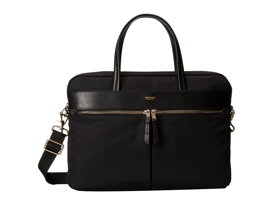 KNOMO London - Hanover Slim Laptop Briefcase (Black) Briefcase Bags